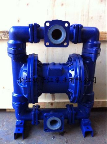qby型衬氟气动隔膜泵是目前国内最新颖的一种采用压缩空气为动力源