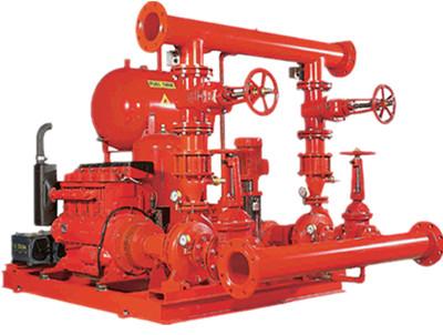 柴油机消防泵配电动消防泵成套供水设备机组