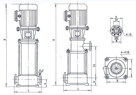 离心泵型号:GDL型图纸立式多级离心泵-管道商架v型号供求二胡图片