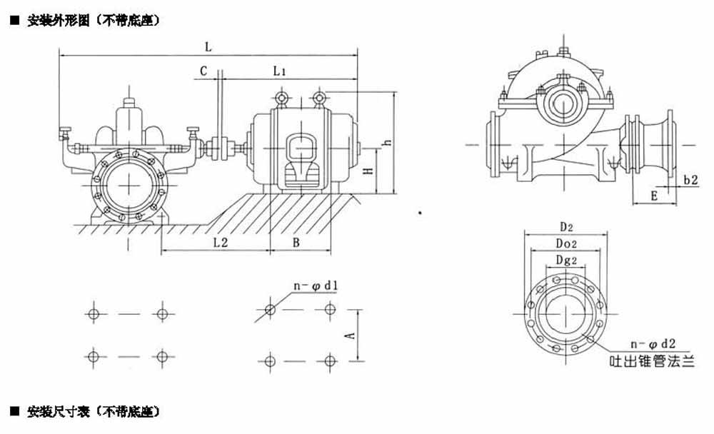 S、SH型单级双吸大流量农田灌溉排水泵结构图: S、SH型单级双吸泵壳中开之离心泵,供抽磅清水或物理化学性质类似于水的其它液体之用。被输送液体温度不得高于80。  二、适用范围: 应用范围:工厂、厂矿、城市给水、电站、农田排灌和各种水利工程。 三、产品特点: 1、应用广泛,外形美观。 2、输送清水,输送腐蚀性液体。 3、新型节能卧式中开泵,检修时无需拆卸进出口水管。 4、轴向位置可调整,用黄油润滑 四、技术参数: 转速:2950r/min,100~600mm 流量:72~3170m3/h 扬程:11~11