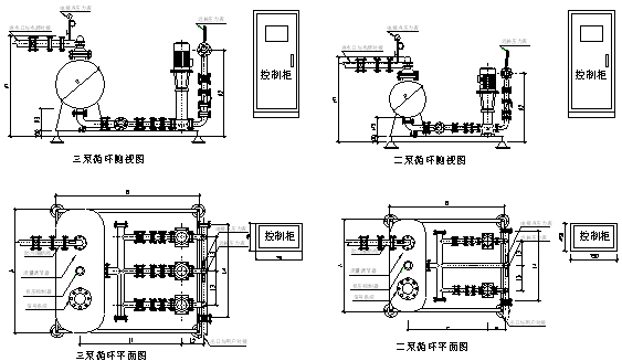 无负压直接式变频全自动供水设备工作原理图及选型参数表