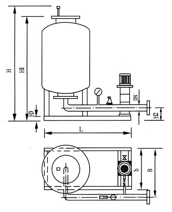 定压补水装置产品原理结构图